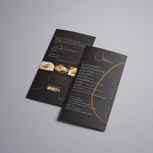 dépliant flyer restaurant cyprien delapierre