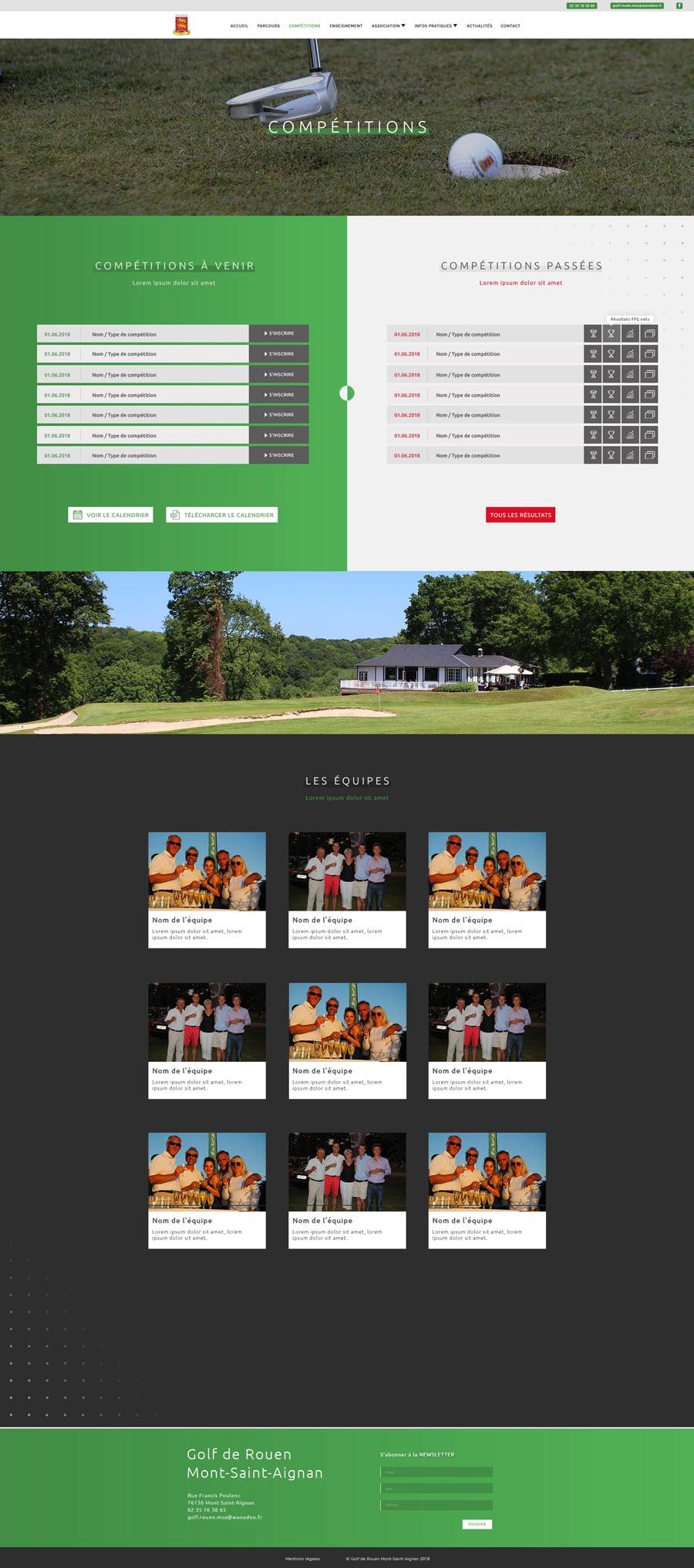 page compétitions golf cyprien delapierre