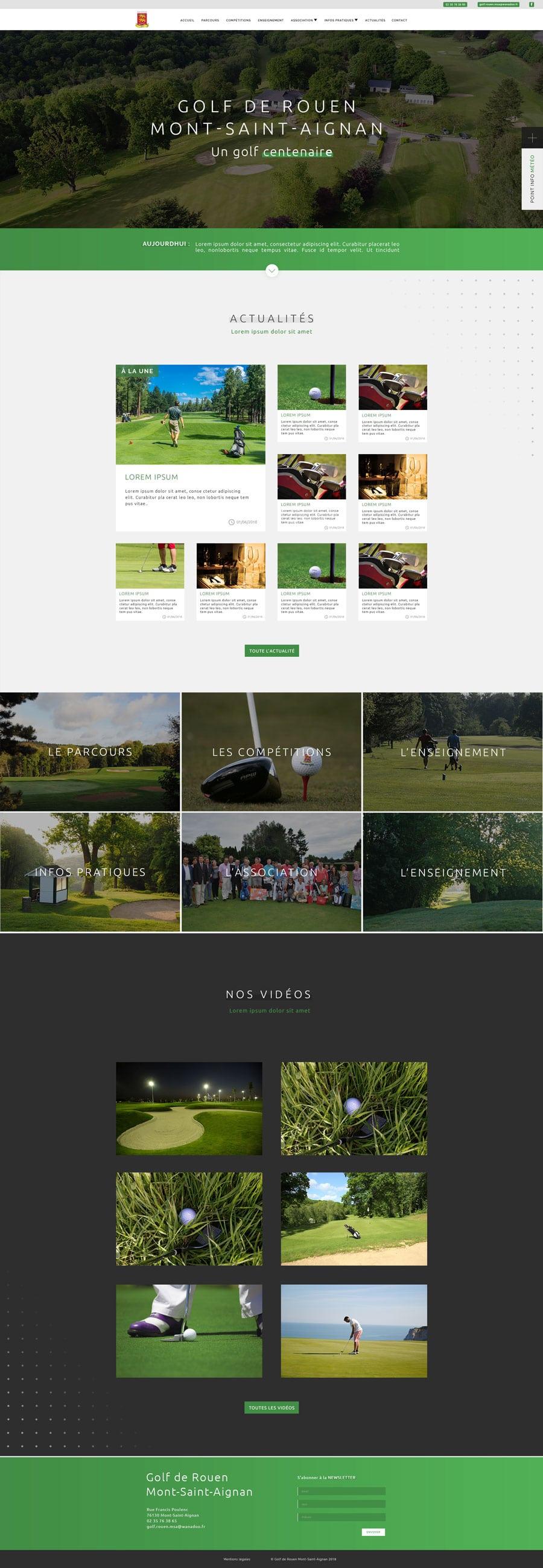 site web golf cyprien delapierre