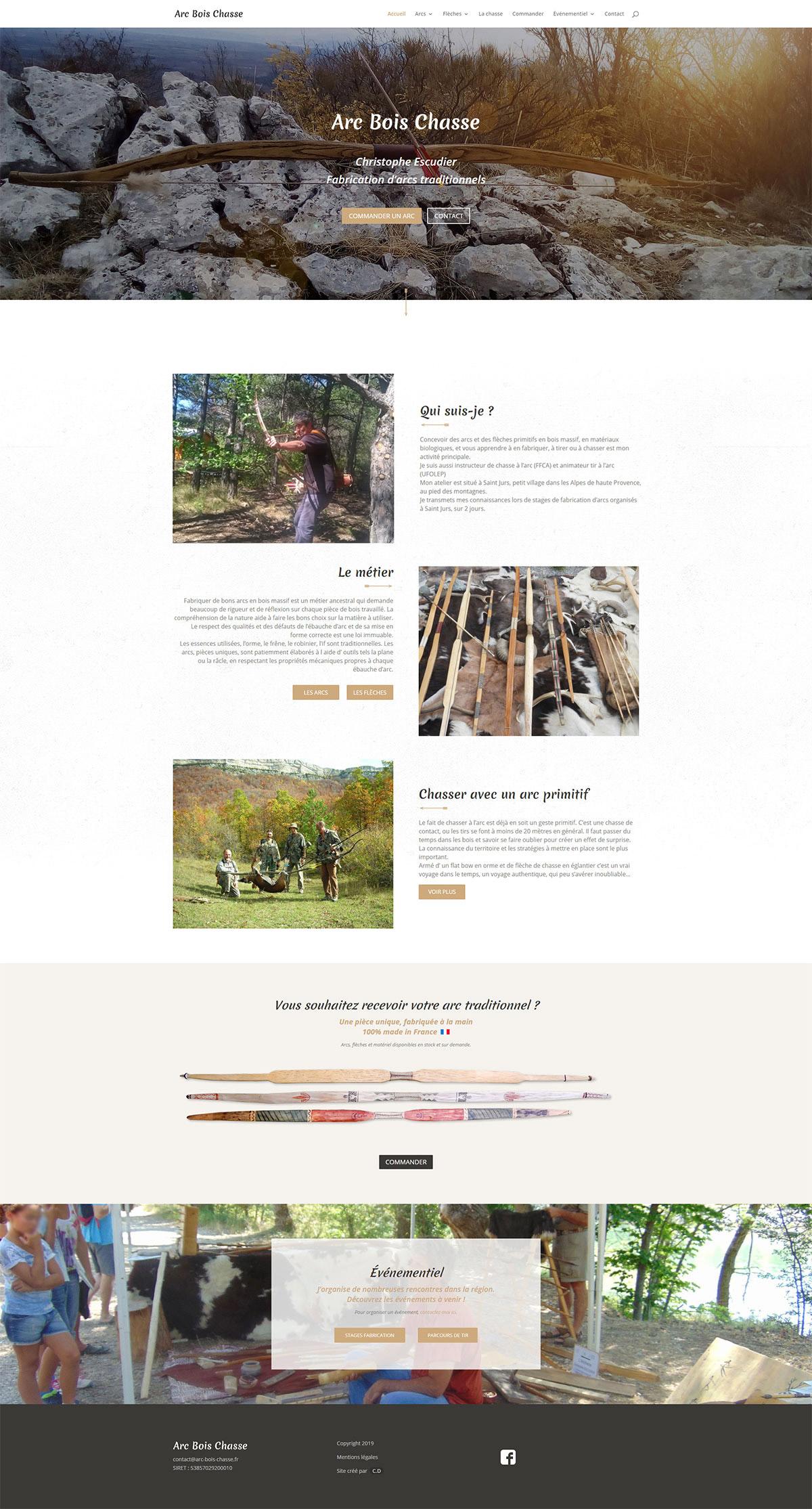 site web arc bois chasse cyprien delapierre