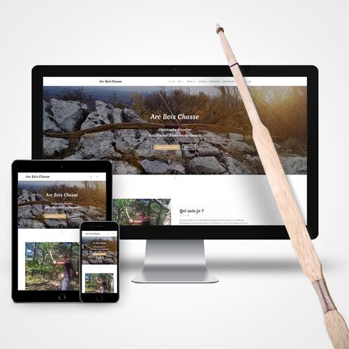 Web design Arc bois chasse cyprien delapierre